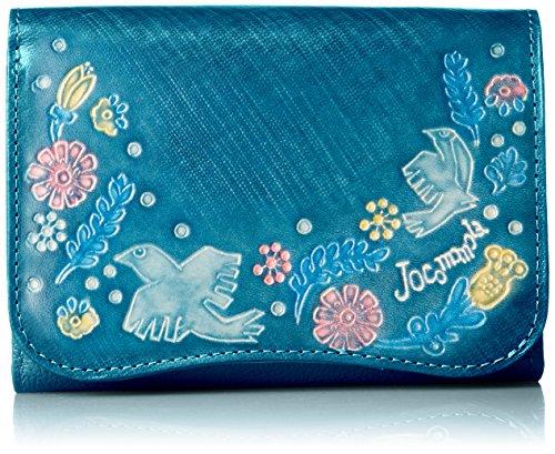 [ホコモモラ] 「パーヴォ」中Lファスナー付折財布 「パーヴォ」中Lファスナー付折財布 5381100 65 ブルー