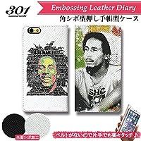 301-sanmaruichi- iPhoneXR ケース 手帳型 おしゃれ ONE LOVE Bob Marley ボブ・マーリー Reggae レゲエ ラスタファリ B シボ加工 高級PUレザー 手帳ケース ベルトなし