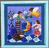 小澤摩純作 手彩色キャンバスジクレー版画 「夜の作り方」