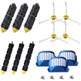 (13pcs for Roomba 600 Series) - Amyehouse Accessory Replacement Kit of Bristle Brushes & Flexible Beater Brushes & 6-Armed Si
