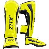 ZTTYレガース ボクシング 足サポーター キックボクシング レッグガード すね当て 3cm厚手インナー 衝撃吸収 格闘技 空手 防具 プロテクター 4色・2サイズ展開