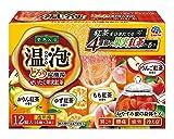 【医薬部外品】 アース製薬 温泡 ONPO とろり炭酸湯 ぜいたく果実紅茶 入浴剤 12錠入(3錠x4種)