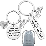 Bus Driver Keychain Gift,Bus Driver Appreciation Gift Bus Driver Thank You Gift Safe and Sound with This Awesome Bus Driver!&