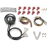 デイトナ バイク用 電気式タコ&スピードメーター 9000rpm ステンレスボディ φ80 VELONA ホワイトLED 95955