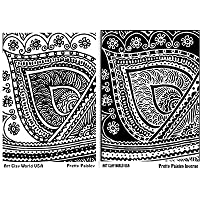 FlexiStamps Texture Sheet Set Pretty Paisley Designs (Including Pretty Paisley and Pretty Paisley Inverse)- 2 pc. by FlexiStamp