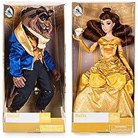 ディズニー (Disney) 美女と野獣 ベル&ビースト クラシックドール ペア2体セット チップのフィギュア付き 約30cm 2017年 [並行輸入品]