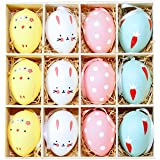 Amosfun Easter Egg Decorations Hanging Egg Pendant Easter Hunt Gifts Ornaments