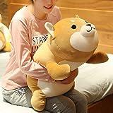 ERDAO Shiba Inu Plush Pillow,Soft Corgi Stuffed Animals Toy Cute Sleeping Puppy Doll Gifts for Kids (Round Eyes, 29.5 inch)