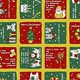 タカ印 クリスマス包装紙 10枚ロール クワドラード 全判 49-4523