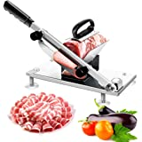 Manual Frozen Meat Slicer, Stainless Steel Meat Cutter Beef Mutton Roll Meat Cheese Food Slicer Vegetable Sheet Slicing Machi