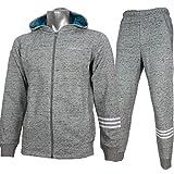 adidas アディダス ネオ 粗挽き杢 スウェット ジャケット パンツ 上下 DKJ86 BQ6297 DKJ87 BQ6291 ミディアムグレーヘザー (L)