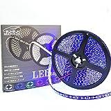 ぶーぶーマテリアル 色が綺麗なLEDテープ ブルー 青 600 LED 黒ベース 5m 12V 防水