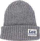 LADYS HIGH GAUGE KNITCAP ニットキャップ Lee リー LA0135 ニット帽 レディース CAP 帽子 (Fサイズ, 102 GRAY グレー)