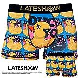 LATESHOW (レイトショー) メンズ ボクサーパンツ DUCK YOU 吸水速乾BODY 特許製法の消臭効果 彼氏 父 ギフト ブランド 男性 下着 クマ 誕生日 プレゼント