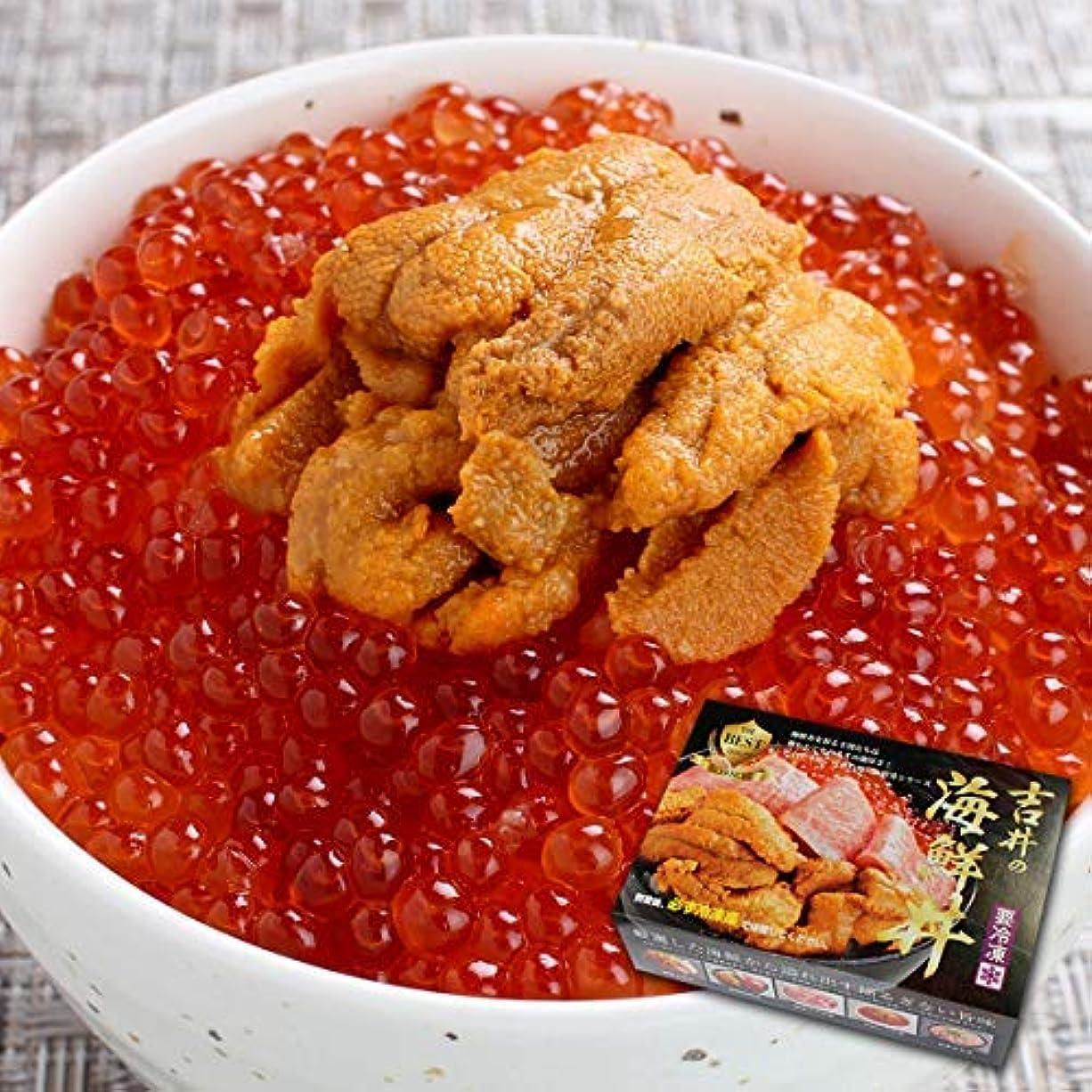 輝く暗記する深くお中元 プレゼント 人気 海鮮 うに いくら 丼 3~4人前(無添加うに 醤油漬けいくら 海鮮セット) (通常商品)