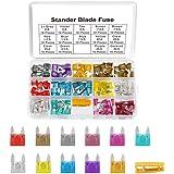 Haobase 140pcs Mini Car Fuse Fuse Assorted Fuse for Auto Truck with Storage Case (2A, 3A, 5A, 7.5A, 10A, 15A, 20A, 25A, 30A,