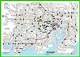 「都市部路線図1」東京(関東、首都圏)【ふりがな付き鉄道路線図】東京周辺のJR、私鉄、地下鉄の全路線、全駅を掲載。ふりがな付きなので小学生?大人?漢字の苦手な外国の方まで楽しめます。 B2サイズ【路線図屋】何枚でも送料320円