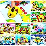 J&C 20pcs 3D EVA Foam Sticker Puzzle Game DIY Cartoon Animal Learning Education Toys for Toddler Kids Art Craft Kits (kidslov