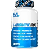 Evlution Nutrition L-Arginine 1500 mg, Ultra-Pure Nitric Oxide Supplement, Muscle Growth & Vascularity, Energy and Stamina, P