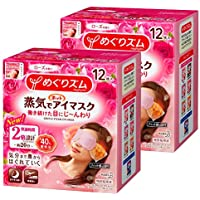 【まとめ買い】めぐりズム蒸気でホットアイマスク ローズ 12枚入×2