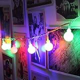 COOLBOTANG LEDイルミネーションライト 5m 40球 ストリングライト フェアリーライト 可愛くて小さなボール 電池式 飾り 8種点灯モード ワイヤーライト 防水 パーティー電飾 電球 ガーランド デコレーションライト 結婚式・庭・パーテ