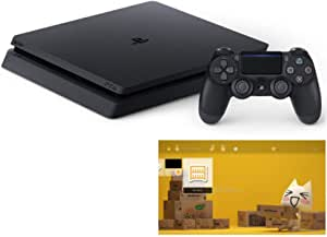 PlayStation 4 ジェット・ブラック 500GB (CUH-2200AB01) 【Amazon.co.jp限定】 オリジナルカスタムテーマ (配信)