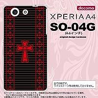 SO04G スマホケース XPERIA A4 SO-04G カバー エクスペリア A4 ゴシック 黒×赤 nk-so04g-1010