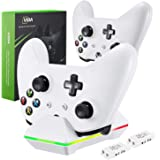 Controller Charger for Xbox One, CVIDA Dual Xbox One/One S/One Elite (Not For Xbox Series X/S 2020) Charging Station with 2 R