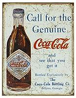 Mostly Signs 【モストリー サインズ / アメリカン雑貨 レトロ ブリキ看板 #1918 / コカ・コーラ コール・フォー・ザ・ジェニュイン】 【並行輸入品】
