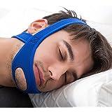 OGlink Anti Snoring Chin Strap Snoring Reduction Breath Calm Sleep Silence Snore Stopper (Blue)