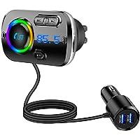 FMトランスミッター シガーソケット Bluetooth5.0 高音質 車載用FMトランスミッター QC3.0急速充電…