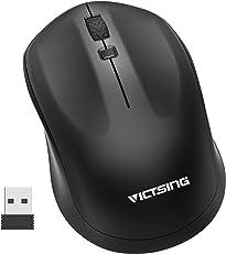 ワイヤレスマウス 2.4G 無線光学式マウス 人間工学デザイン 3DPIモード 高精度 左右対称 省エネルギー 持ち運び便利 Windows/Mac/VISTA対応 ブラック