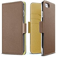 BONAVENTURA ボナベンチュラ iPhone 8/7 ケース German Leather Diary Case with Magnet マグネット付 [iPhone 8/7 | エトープ×イエロー]