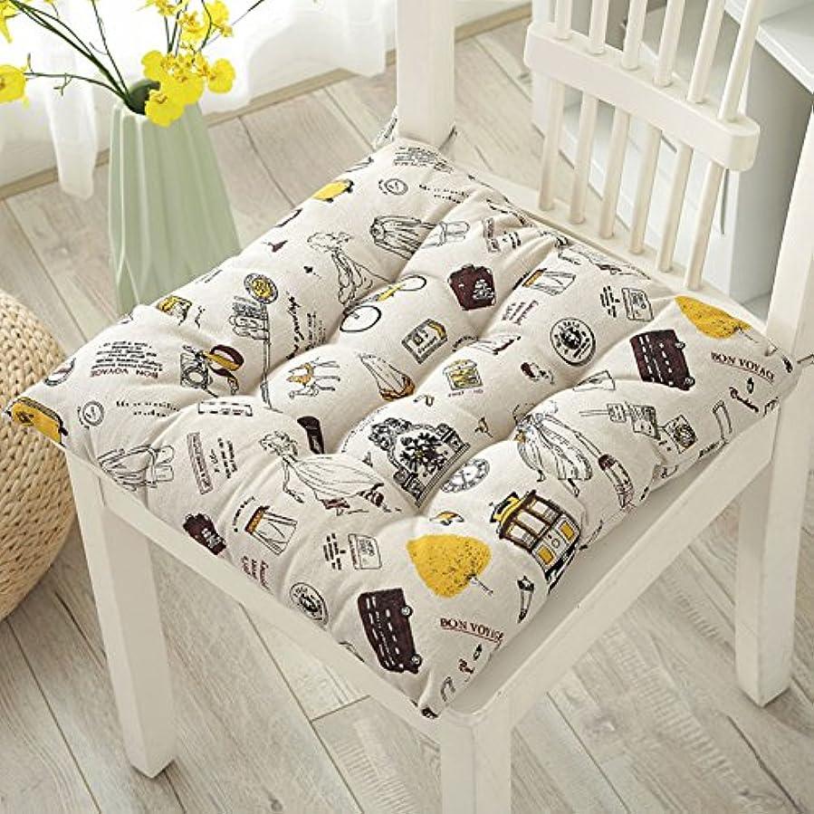 トレーダーバッグミントコットン リネン正方形シート クッション, 厚く印刷椅子クッション瞑想ヨガ パッド床クッション畳 -Y 45x45cm