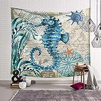 ビンテージタペストリービンテージ海洋生物格納庫ホームタペストリーの寝室、寮、リビングルームの装飾 ズセトップ (Color : A, Size : 203x150)