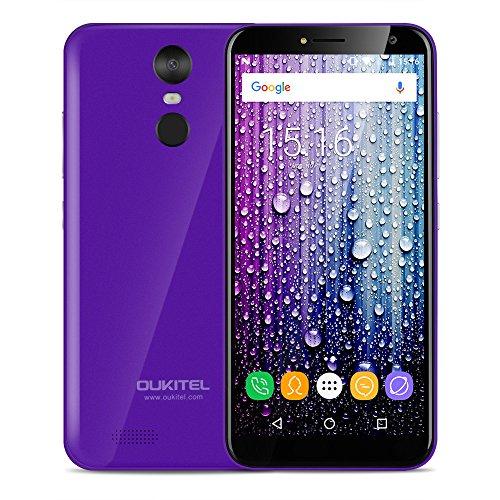 Oukitel C8 SIMフリースマートフォン 5.5インチ 18:9 HD スクリーン 2GB 16GB Android 7.0 MTK6580A 13.0MP 5.0MP (パープル)