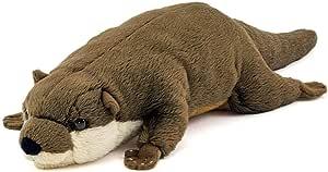 カロラータ コツメカワウソ ぬいぐるみ 動物 (ねそべりシリーズ) 9cm×7.5cm×30cm