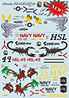 Decal for飛行機S - sh-60b / mh-60Aircraf 1/ 48印刷スケール48–106