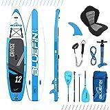 Bluefin SUP Aufblasbares Stand Up Paddel Board | 6 Zoll | Kajak Umbausatz | Komplettes Zubehör enthalten | Mehrere Größen: Ki