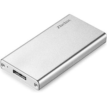 Zheino USB3.0 MSATA SSDケース MSATA3 高速データ転送 6Gbps USB A HDD外付けドライブケース SATA3ケース 超小型 UASP対応ドライバ アルミ合金製 ポータブルHDDケース USBケーブル付き(シルバー)
