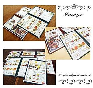 メニューブック 4ページ A4サイズ PRO-MA4-4 (紅)