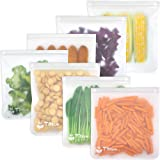 Reusable Gallon Storage Bags - LEAKPROOF Ziplock Gallon Freezer Bags for Marinate Meats, Snack, Sandwich, Fruit, Cereal, Trav