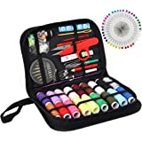 Sewing KIT, XL Sewing Supplies for DIY, Beginners, Emergency, Kids, Summer Campers, Travel and Home,Sewing kit with Scissors,