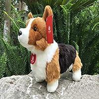 JEWH ウェルシュ・コーギー・ペンブローク ぬいぐるみ - イミテーションコーギス - ぬいぐるみ 子犬 ぬいぐるみ 子供へのギフト (25cm) (立った3色)