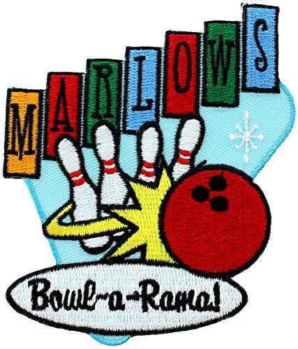 【ワッペン ★アイロン アップリケ★ 50's MARLOWS BOWLING マーロウズ・ボーリング P-3598】 【並行輸入品】