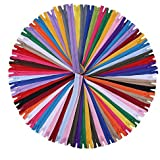 SUNVORE 12 Inch Zippers - Nylon Coil Zippers Bulk - Supplies for Tailor Sewing Crafts - Pack of 100, a40, 12 inch
