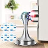 Door Stopper, 2 Pack Magnetic Door Stops, Door Catch Stainless Steel, No Need to Drill - 3M Double-Sided Adhesive Tape, Keep