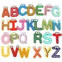 ギルロイ26英語アルファベット磁気文字カラフルな木製冷蔵庫マグネット子供教育玩具