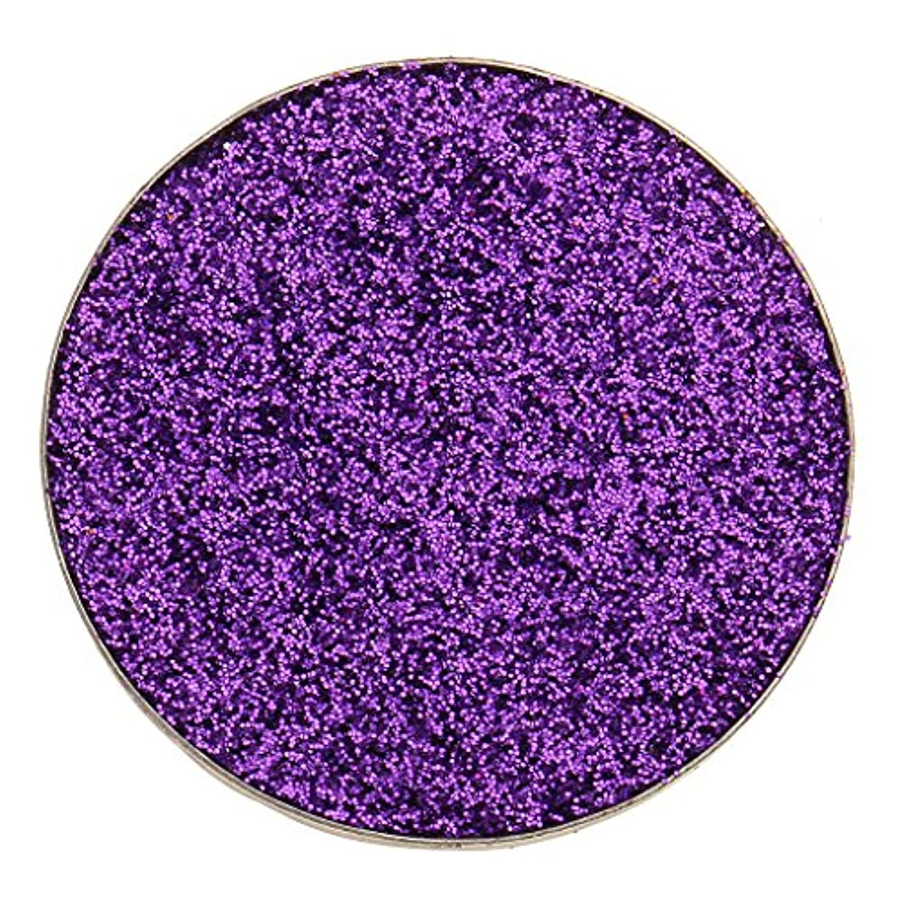 好奇心盛記述する一杯全5色 ダイヤモンド キラキラ シマー メイクアップ アイシャドウ 顔料 長持ち 滑らか - 紫