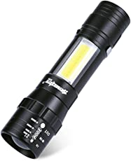 懐中電灯 Kukoyo 高輝度 LEDライト CREE XPE Q5 + COB 強力 ハイパワー 調光可能 ズーム機能 ミニ 小型 軽量 ハンディライト フラッシュライト 多機能 防災 防犯 停電対策 明るい 登山 自転車 台風 地震 非常用